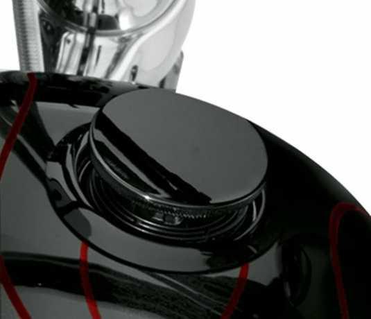 Harley-Davidson Flush mount Fuel Cap & Gauge Kit gloss black  - 75327-09D