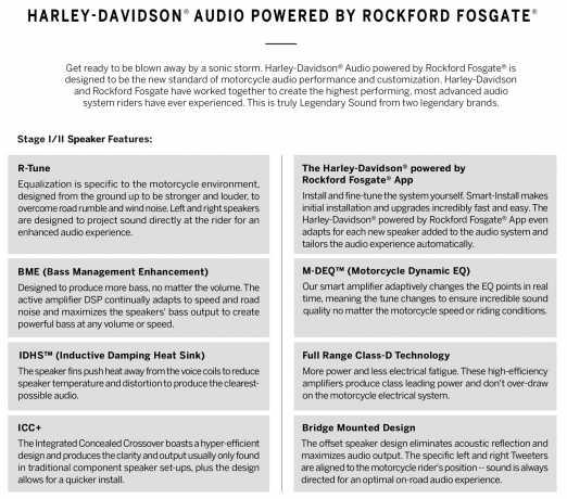 Harley-Davidson H-D Audio by Rockford Fosgate Stage II Fairing Lautsprecher  - 76000983