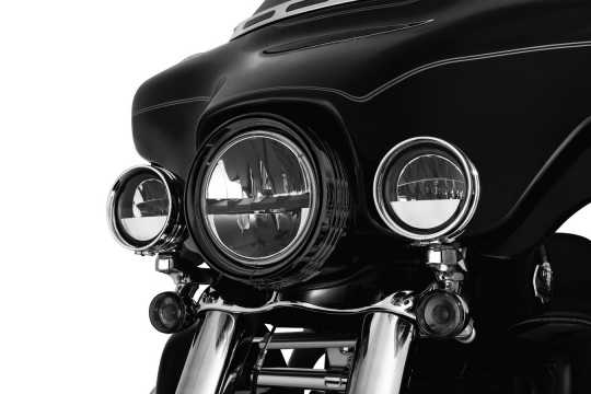 "Küryakyn Kuryakyn Headlamp Trim Ring 7"", gloss black  - 77-7276"