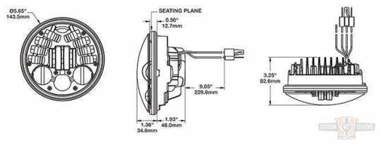 """JW Speaker JW Speaker 8690A, LED Adaptive 5 3/4"""", Chrome  - 89-0444"""