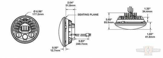 "JW Speaker JW Speaker 8790A, LED Adaptive 7"" Headlight insert, Black  - 89-0445"