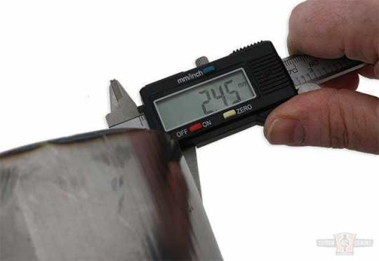 TXT Customparts TXT, Fender Raw, Width: 230mm, Diameter: 740mm, Arc Length 1100  - 89-0640