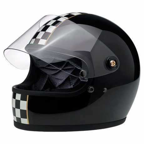 Biltwell Biltwell Gringo S LE Checker gloss black DOT  - 89-2384V