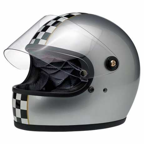 Biltwell Biltwell Gringo S LE Checker, metallic silver DOT  - 89-2390V