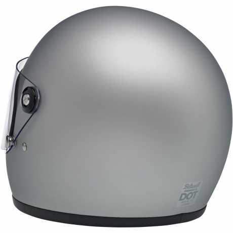 Biltwell Biltwell Gringo S Helm Flat Silver DOT  - 89-9654V