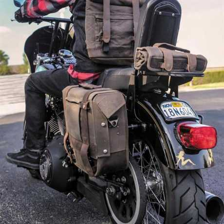 Burly Brand Burly Voyager Single Saddlebag Dark Oak  - 90-1024