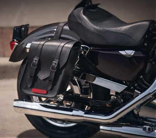Harley-Davidson Black Standard Line Throw-Over Saddlebags - Compact  - 90201769