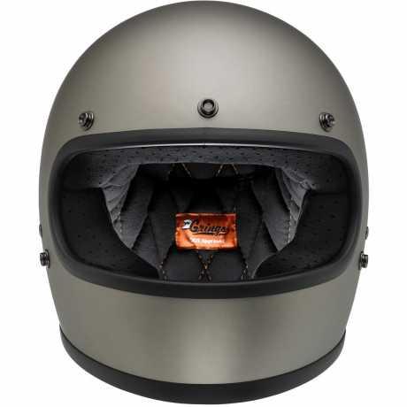 Biltwell Biltwell Gringo Full Face Helmet, ECE, Flat Titanium  - 91-1936V