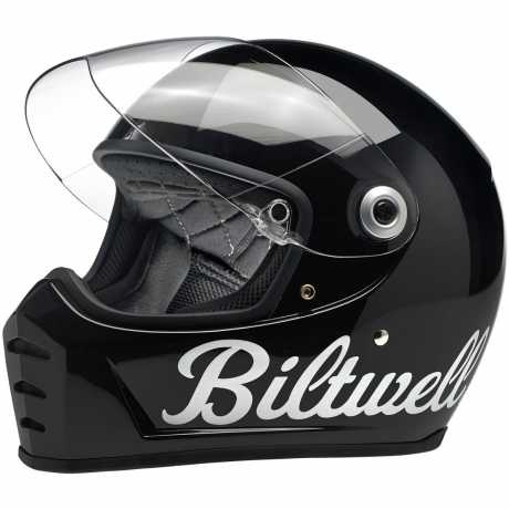 Biltwell Biltwell Lane Splitter Helm ECE Gloss Black Factory  - 569688V
