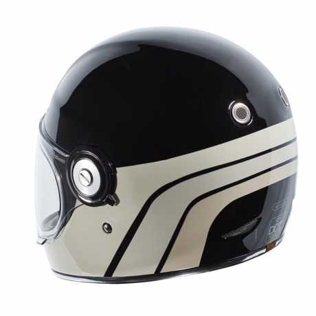 Torc Helmets Torc T-1 Retro Dreamliner Tan Full Face Helmet Gloss Black  - 91-6158V