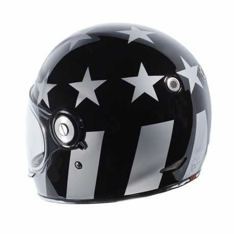 Torc Helmets Torc T-1 Retro Integralhelm Captain Vegas schwarz ECE L - 91-6167