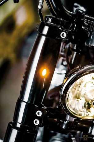 Flywheel Design Flywheel Design Athene obere Gabel Cover mit LED Blinker schwarz matt  - 91-8056