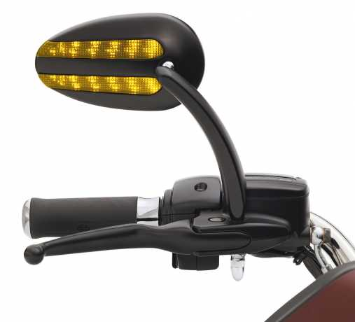 Harley-Davidson KIT-MIRROR,BLACK,W/LITES matte black - 92068-08A