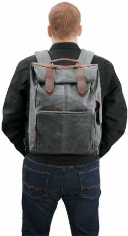 Harley-Davidson Waxed Canvas Backpack & Sissy Bar Bag  - 93300117