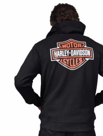 H-D Motorclothes Harley-Davidson Hoodie Bar & Shield black  - 96016-21VM