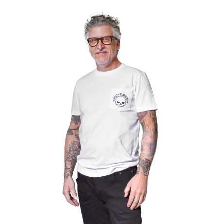 H-D Motorclothes Harley-Davidson T-Shirt Skull Pocket weiß  - 96024-21VH