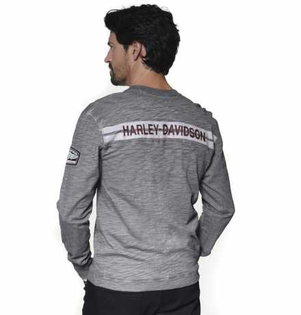 H-D Motorclothes Harley-Davidson Henley Shirt Castle Rock HD03 grey  - 96310-20VM