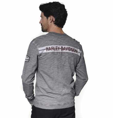 H-D Motorclothes Harley-Davidson Henley Shirt Castle Rock H-D03 grey  - 96310-20VM