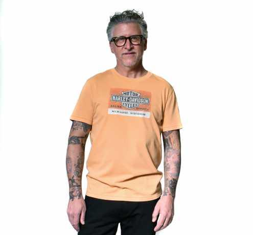 H-D Motorclothes Harley-Davidson T-Shirt Sales & Service orange  - 96428-20VM