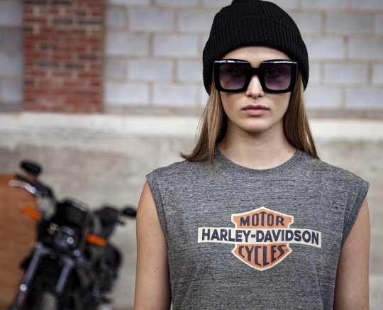 H-D Motorclothes Harley-Davidson women´s T-Shirt sleeveless grey  - 96434-20VW