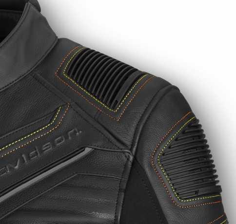 H-D Motorclothes Harley-Davidson Lederjacke Watt ECE schwarz  - 98002-20EM