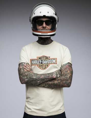 H-D Motorclothes Harley-Davidson T-Shirt Crackle Bar & Shield creme weiß XL - 99001-19VM/002L