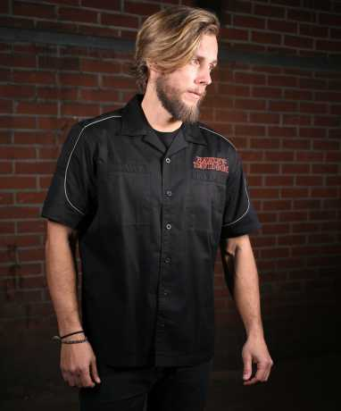 H-D Motorclothes Harley-Davidson Hemd Burning Skull Garage S - 99004-16VM/000S
