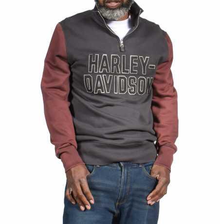 H-D Motorclothes Harley-Davidson 1/4 Zip Sweatshirt grey & ebony  - 99030-20VM