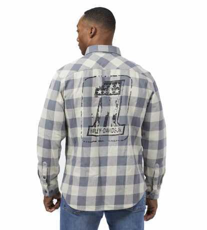 H-D Motorclothes Harley-Davidson Shirt #1 Logo Plaid grey  - 99051-21VM