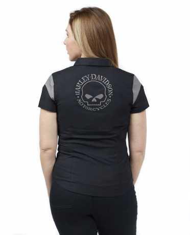 H-D Motorclothes Harley-Davidson Damen Zip-Front Shirt Skull schwarz  - 99055-21VW