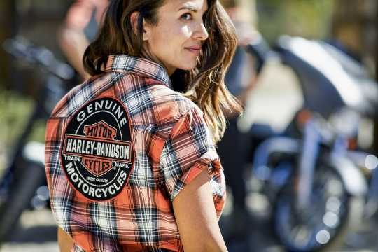 H-D Motorclothes Harley-Davidson Women's Plaid Shirt Genuine Oil Can 2W - 99071-18VW/002W