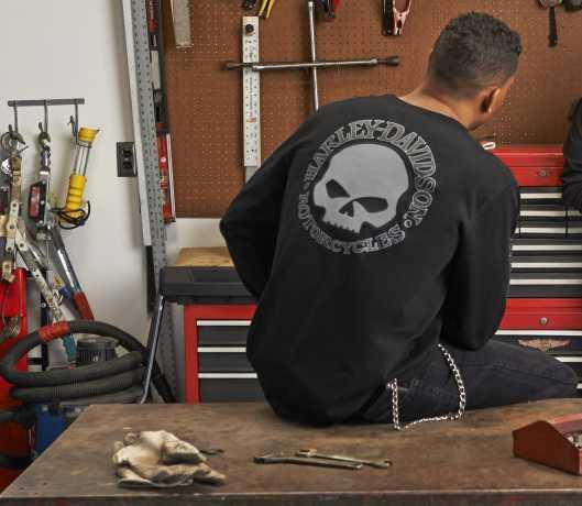 H-D Motorclothes Harley-Davidson Skull Long Sleeve Tee, black 3XL - 99091-14VM/222L
