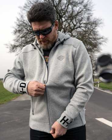H-D Motorclothes Harley-Davidson Zip Hoodie Rib-Knit Side grau  - 99093-20VH