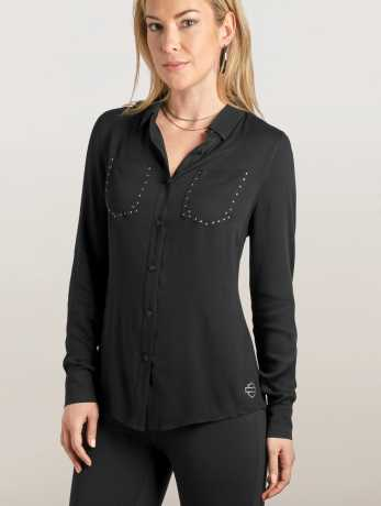 H-D Motorclothes Harley-Davidson Women's Stretch Rayon Shirt L - 99129-19VW/000L