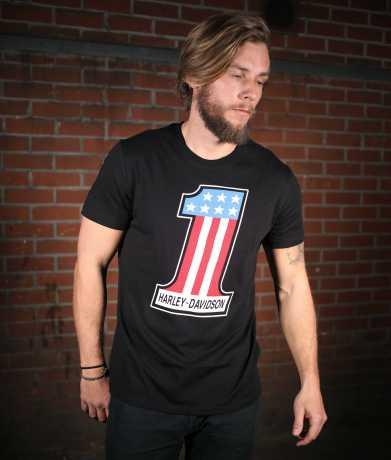 H-D Motorclothes Harley-Davidson T-Shirt #1 Retro schwarz  - 99215-19VM