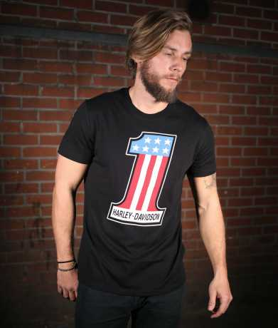 H-D Motorclothes Harley-Davidson T-Shirt #1 Retro black 3XL - 99215-19VM/222L