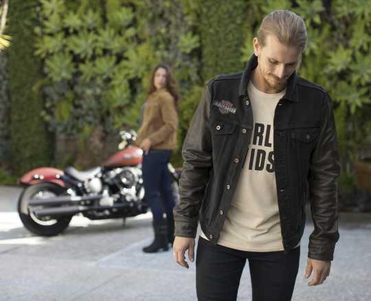 H-D Motorclothes Harley-Davidson T-Shirt Jersey Appliqué off-weiß XL - 99271-19VM/002L