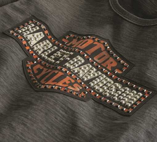 H-D Motorclothes Harley-Davidson Women's T-Shirt Studded Bar & Shield M - 99274-19VW/000M
