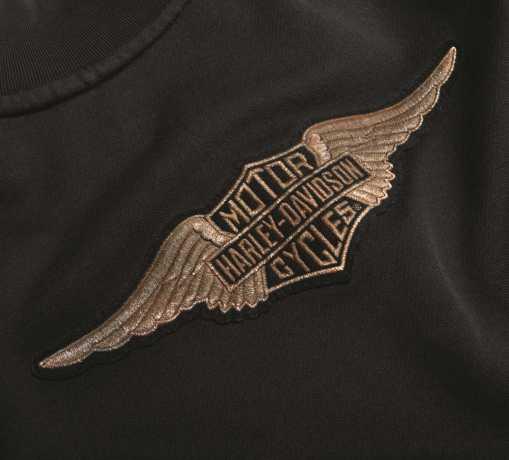 H-D Motorclothes Harley-Davidson Women´s 1/4-Zip Sweatshirt Felt Letter black  - 99286-19VW