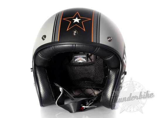 H-D Motorclothes H-D Grey Star Retro 3/4 Helmet XL - EC-98320-15E/002L