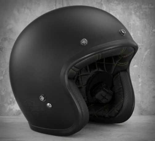 H-D Motorclothes Harley-Davidson Helm Genuine Retro 3/4, matt schwarz  - EC-98368-15E