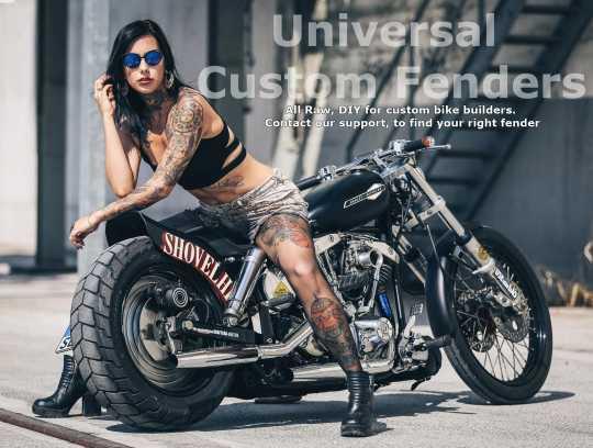 Custom Chrome Front Fender with Bracket, steel raw  - 26-350