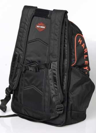 H-D Motorclothes Harley-Davidson B&S Delux Backpack, black/orange  - BP1900S-ORGBLK