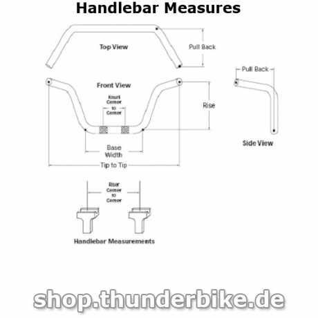 Harley-Davidson Sport Bar Reduced Reach Lenker schwarz matt  - 57466-10