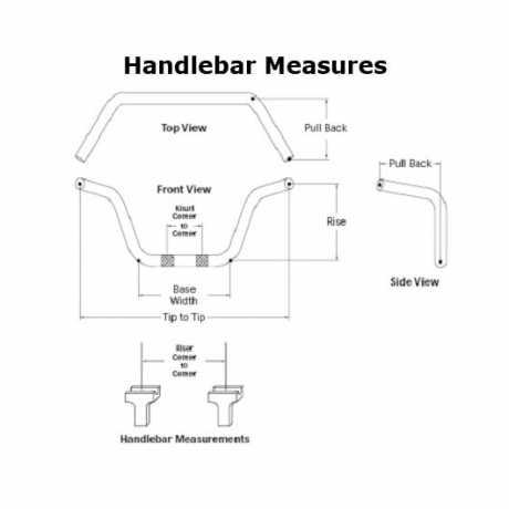 """Harley-Davidson Fat Ape Hanger 16""""  Lenker-Kit mit Riser schwarz matt  - 55857-10B"""