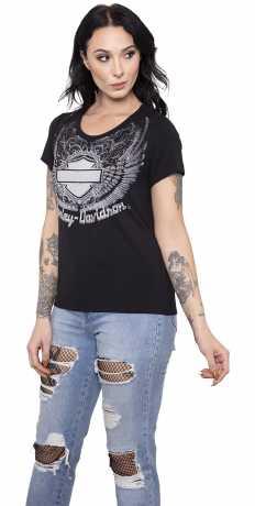 H-D Motorclothes Harley-Davidson Damen T-Shirt Swift  - HT4515BLK
