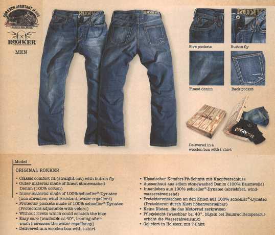 Rokker Rokker Original Biker Jeans  - ROKKER JEANSV