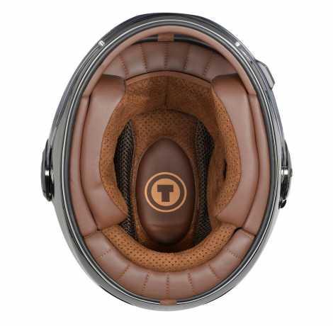 Torc Helmets Torc T-1 Retro Full Face Helmet ECE gloss gray  - 91-7505V