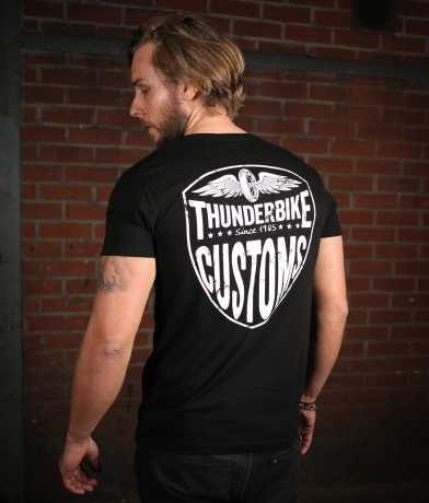 Thunderbike Clothing Thunderbike V-Neck T-Shirt New Custom black XL - 19-31-1011A/002L