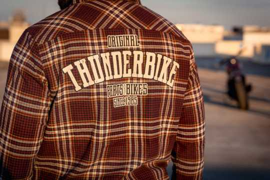 Thunderbike Clothing Thunderbike Herren Flanellhemd Karo cherry/honey  - 19-32-1197V